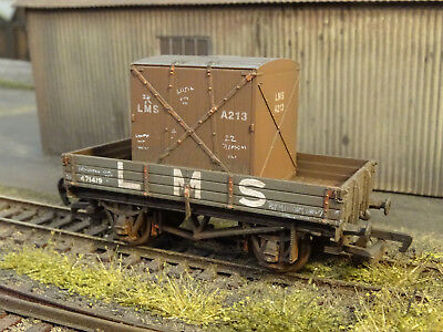 Mainline Lms 3 Plank Wagon & Container Load (lineside Weathered) 37-419 • 28.95£