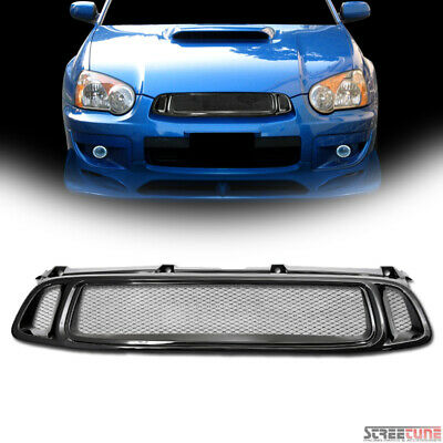$53 • Buy For 04-05 Subaru Impreza WRX JDM Blk Sport Aluminum Mesh Front Hood Grill Grille