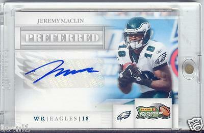 $19.99 • Buy  Auto Jeremy Maclin 2011 Panini Preferred Player Of The Day Autograph Card