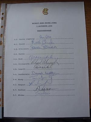 03/09/1994 Cricket Autograph Sheet: Worcestershire - 11 Signatures [Headed Up 'N • 10.99£