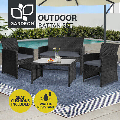 AU319.95 • Buy Gardeon Garden Furniture Outdoor Lounge Setting Wicker Sofa Set Patio Bistro