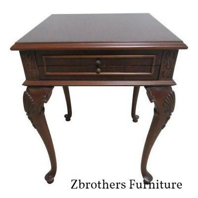 Maitland Smith Carved French Regency Dark Burl Wood Lamp End Table Stand U2022  569.00$