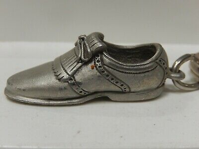 Fort 1987 Pewter Golf Shoe Key Chain - Bag Tag Zipper Pull  • 6.43£