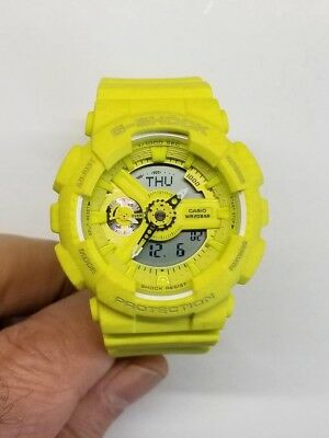 $84.95 • Buy Casio G-shock Multi-function Yellow Strap Women's Watch Gmas110ht-9a Pre-owned