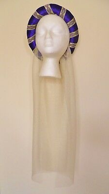 Purple & Gold Medieval Headdress MADE TO ORDER Gothic Headpiece Pagan Circlet  • 18.99£