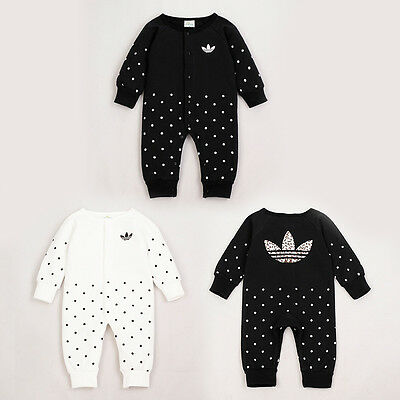 AU11.81 • Buy 2020 Baby Girl Polka Dots Long Sleeve Romper Jumpsuit Bodysuit Babygrows Clothes