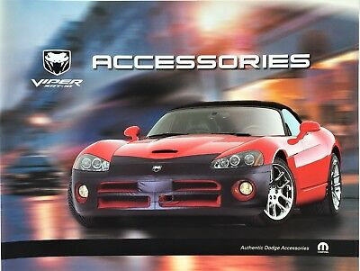 $15.99 • Buy MINT 2004 DODGE VIPER SRT10 DEALER ACCESSORIES BROCHURE! 8.5  X 11