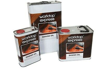 Danish Oil - For Use On Solid Wood Kitchen Worktops - 1L, 2.5L And 5L Avaliable • 19.99£