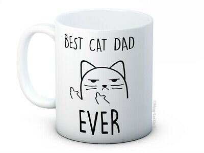 £7.99 • Buy Best Cat Dad Ever - Rude Cat Funny High Quality Coffee Mug Father's Day Birthday