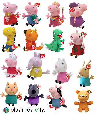 Ty Peppa Pig, George & Friends Soft Plush Toys 6  - 7  Lots To Choose, Brand New • 9.49£