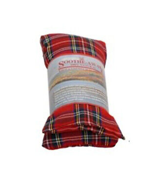 Hot Wheat Bag - Herbal Lavender Fragrance - Hot & Cold Pack Fleece - Tartan Red • 5.99£