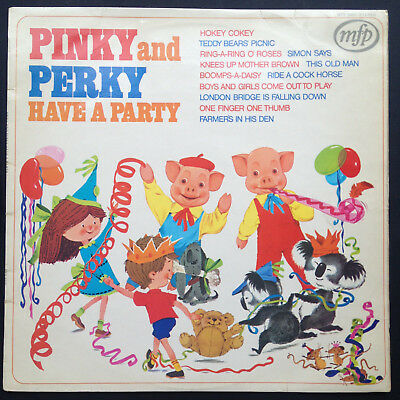 Geoff Love PINKY AND PERKY HAVE A PARTY LP Teddy Bears Picnic Hokey Cokey UK 72 • 20£