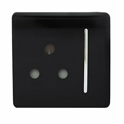 Gang Artistic Modern Glossy 15 Amp Electrical Pin Switched Plug Socket Black • 4.49£