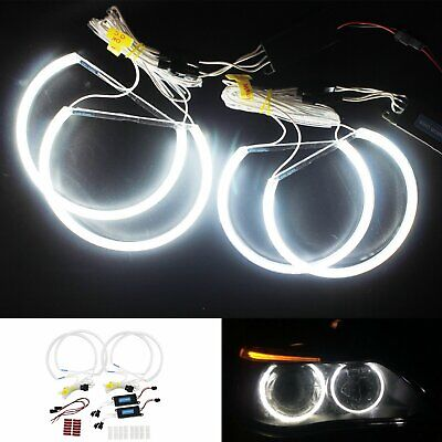 £22.90 • Buy BMW E46 CCFL Angel Eyes Light Lamps 131mm&146mm Halo Ring Non-projector White