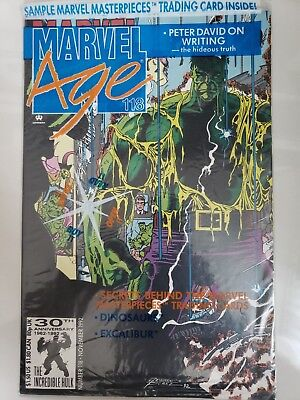 MARVEL AGE #118 (1992) 1ST PREVIEW HULK FUTURE IMPERFECT! SEALED With CARD! HOT! • 9.39£