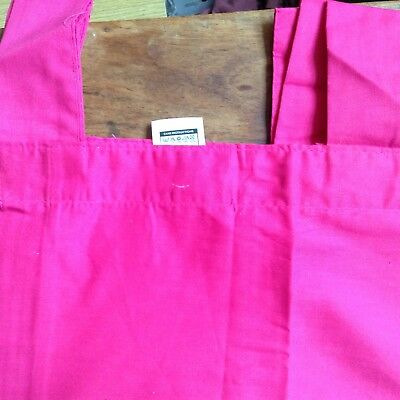 Pink Tab Top Curtains Pair, One Panel Drop 54  X 130  W, Large Window To 11ft • 9.99£