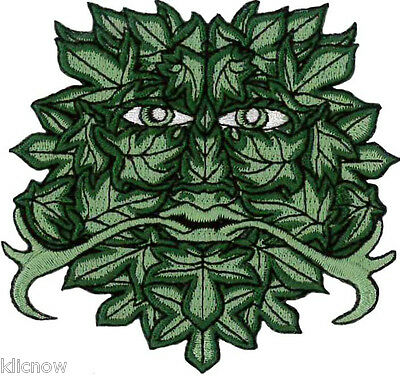 £3.49 • Buy GREEN MAN Embroidered PATCH 8.5cm X 9cm (3 1/4  X 3 1/2 ) Approx