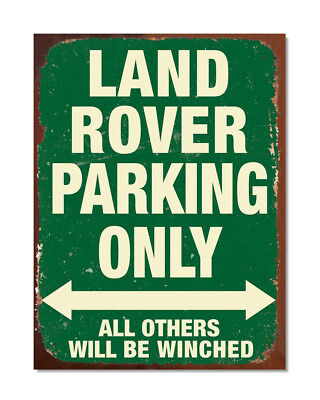 Land Rover Parking Only Sign Series Vintage Retro Garage Advert Poster - M0072 • 6.75£