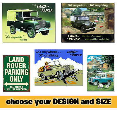 Land Rover Car Garage Tin Metal Sign Plaque Vintage Shed Wall Decor Poster Home • 6.75£