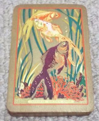 Japanese Golden Carp - Vintage 1930s Pack Of Bezique / Piquet Playing Cards • 17.99£
