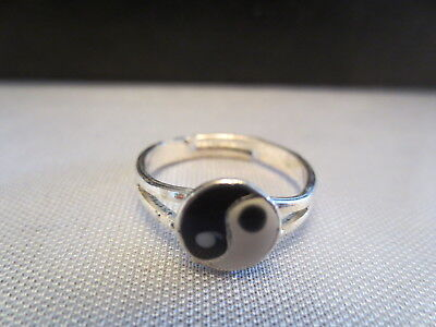 3 Piece Ring Yin Yang   Silver Adjustable + Jewelry Box / S30 • 3.42£