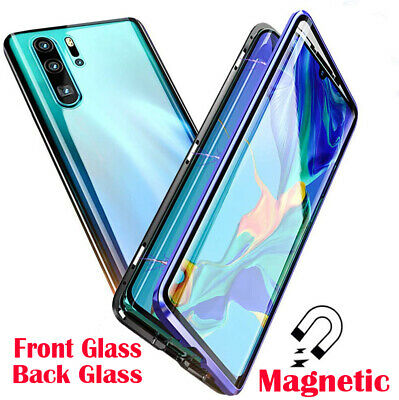 360° Double Tempered Glass Magnetic Phone Case Cover For Huawei P30 P20 Pro Lite • 8.95£