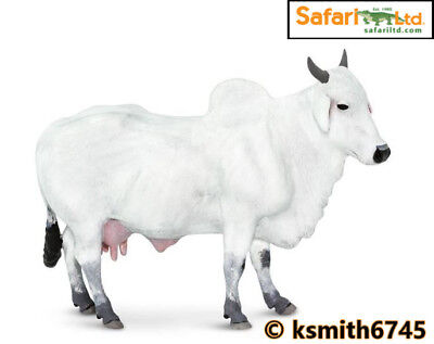 £8.25 • Buy Safari ONGOLE COW Solid Plastic Toy Farm Pet White Animal Cattle * NEW *💥