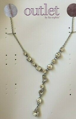 $ CDN10.15 • Buy NEW Lia Sophia Silver Toned ~ Princess ~ Crystal Fashion Necklace 18-20  Long