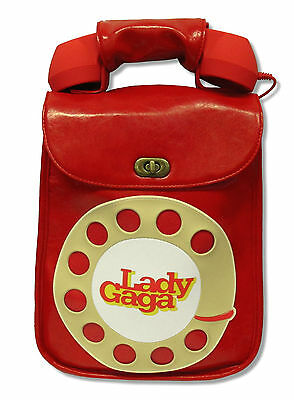 Lady Gaga Red Telephone Leather Hand Bag Purse With Cell Phone Hand Set New • 35.46£