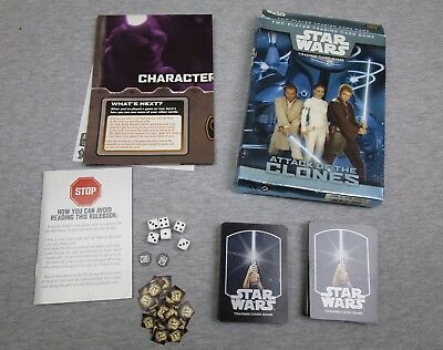 Star Wars Attack Of The Clones Trading Card Game Wizards Complete • 7.99$