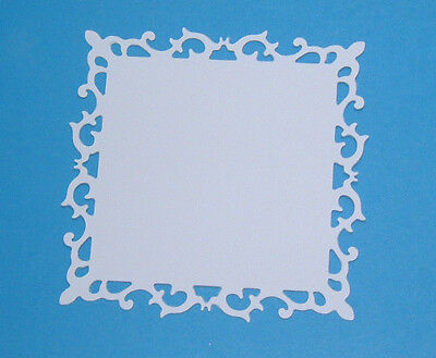 £1.45 • Buy Die Cut Fluer De Lis Squares In Smooth White Card In 3 Size Options