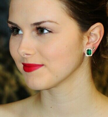 $ CDN73.73 • Buy Kate Spade New York Bright Ideas Emerald Cut Stud Earrings Fuchsia Emerald Green