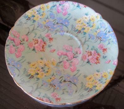 Shelley China Melody Chintz 5.5  Gold Trimmed Saucer • 7.31£