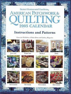 $1.99 • Buy 2005 American Patchwork & Quilting Calendar 12 Beautiful Patterns