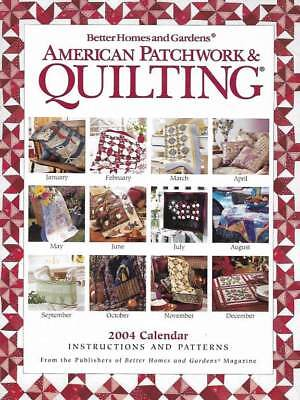 $1.99 • Buy 2004 American Patchwork & Quilting Calendar 12 Great Patterns