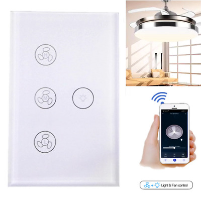 AU34.99 • Buy Wifi Smart Ceiling Fan Controller Wall Switch Touch Panel For Alexa/Google Home