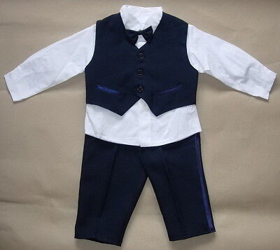 £15.99 • Buy BABY BOY OUTFIT Blue Formal Special Occasion Suit Wedding Christening Clothing