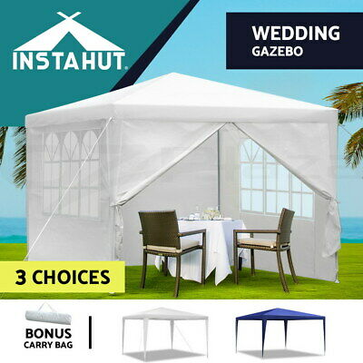 AU69.90 • Buy Instahut Gazebo 3x3 Outdoor Marquee Party Wedding Outdoor Tent Canopy Wall