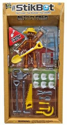 Stikbot Action Pack Farm Role Play Accessory Set [Brown] • 17.87£