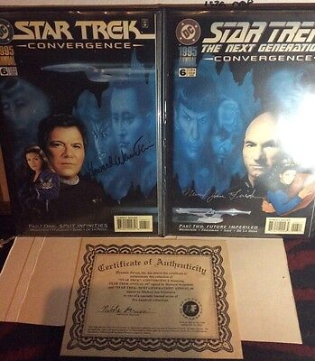 Dynamic Forces Limited Edition Signed Star Trek Convergence Comics • 60£