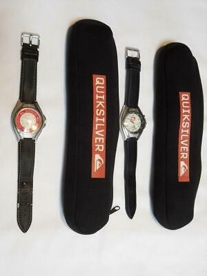 £49.99 • Buy LOVELY X2 Quicksilver Water Resistant Wristwatches - Leather Straps & Pouches