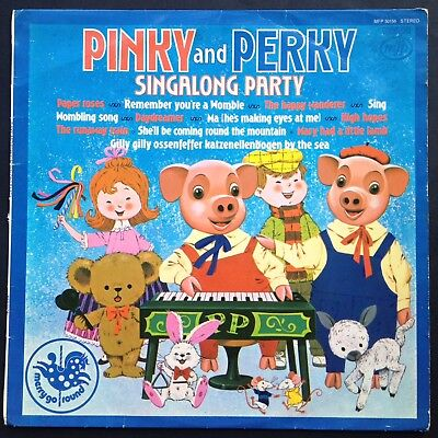 PINKY AND PERKY LP Singalong Party Children's Soundtrack 1974 Wombles Daydreamer • 14£