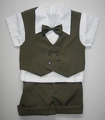 £14.99 • Buy BABY BOY OUTFIT Dark Green Formal Special Occasion Suit Wedding Clothing Set