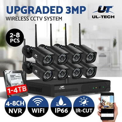 AU399 • Buy UL-tech CCTV Security System Wireless Camera Home 1080P 4CH DVR Outdoor Home IP