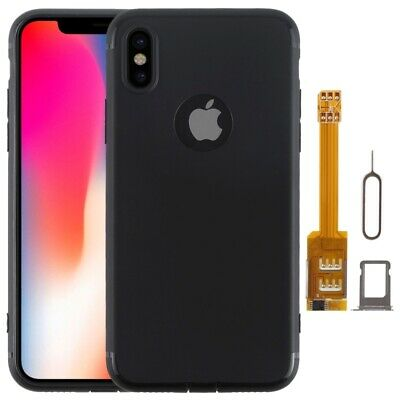 Kumishi Dual SIM Card Adapter+TPU Case For IPhone X, Dual Card Single Standby • 16.99£