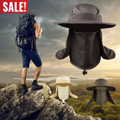 $9.55 • Buy US Men Women Outdoor Sport UV Protect Face Neck Flap Sun Cap Fishing Hiking Hat