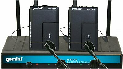 £93.49 • Buy Gemini UHF-216HL Microphone System NEW IN BOX AUTHORIZED DEALER!