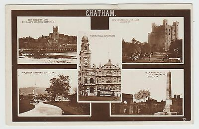 £1.30 • Buy Chatham, Town Hall Tram, Barracks, Etc: ~1920's Real Photo MView, Used 1930(Est)