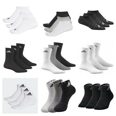 AU21.16 • Buy Adidas Socks 3 Pairs Mens Womens Crew Ankle No Show Cotton Sports Socks Running
