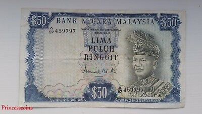 £199.99 • Buy Scarce*1967-72 Series Malaysia Rm 50 Ringgit Lima Puluh Banknote Ef A/97 45979